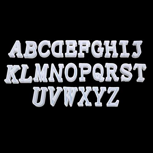 Molde de fundición con letras invertidas para hacer joyas de alfabeto para fundición con resina, hormigón, cemento