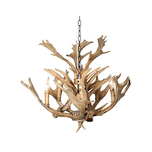 DD Retro Industrial Wind Antlers - Candelabro decorativo