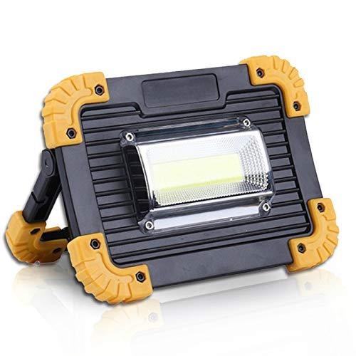 DYCDQMJC Linterna de camping 20 W impermeable 4 modos proyector portátil camping luz recargable reflector