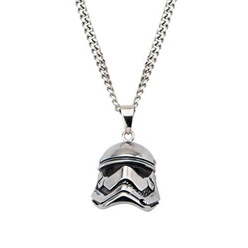 Collier avec pendentif Star Wars Stormtrooper 3D en acier inoxydable 316 3310A