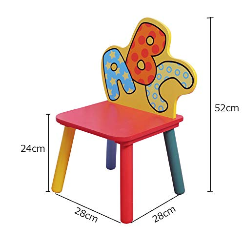 Ensemble Table Et Chaises pour Enfants - Bureau/Table De Jeu | Chaise De Dossier (28 * 28 * 52cm)