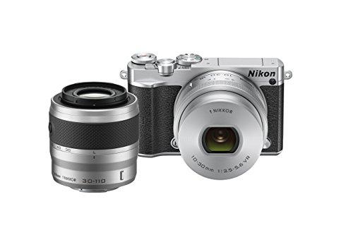 Nikon 1 J5 Mirrorless Digital Camera w/ 10-30mm PD-ZOOM Lens & 30-110mm Lens (Silver)