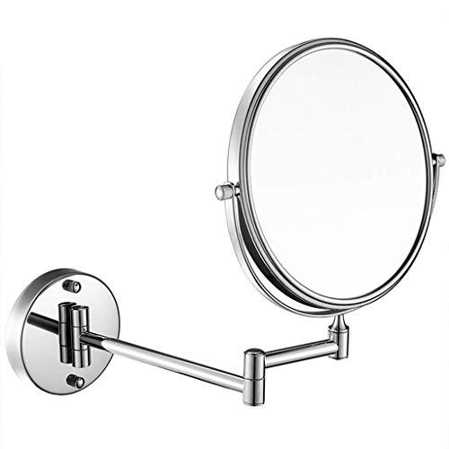 Espejo de Afeitado con Pedestal de Mesa, Espejo de Maquillaje de 8 Pulgadas, inclinación del Brazo Ajustable Espejo de vanidad para baño de fácil colocación Espejo de vanidad Plegable de Aumento 7X
