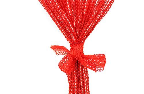 cortinas hilos roja