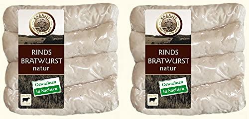Rindsbratwurst | 100% Rindfleisch Bratwurst ohne Darm | Rindswurst | Rindswürstchen als Wurst zum Grillen und Braten (400g Natur)