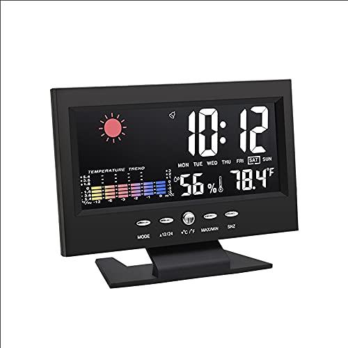 SUNONE Estación Meteorológica, Multifuncional LCD Colorido Medidor Digital de Temperatura y Humedad...
