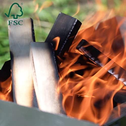 Legna da Ardere per Camino - Legna Secca di Betulla FSC per Camini Stufe e Barbecue - Accendi Fuoco...