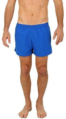 UZZI Men's Basic Swim Shorts Swimwear Trunks Royal (Large)