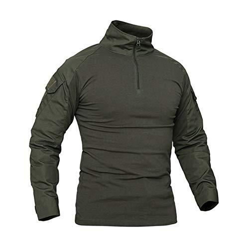 WLI Military Rapid Assault Tactical Slim Fit Hemd, Herren Langarm Kampfhemd mit Taschen,XXL