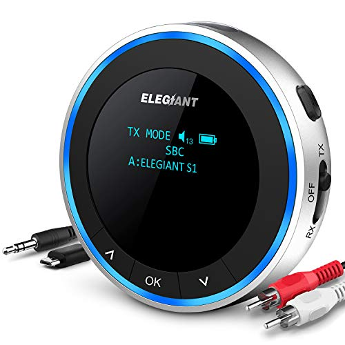 ELEGIANT Transmisor Bluetooth 5.0 para TV, Adaptador +