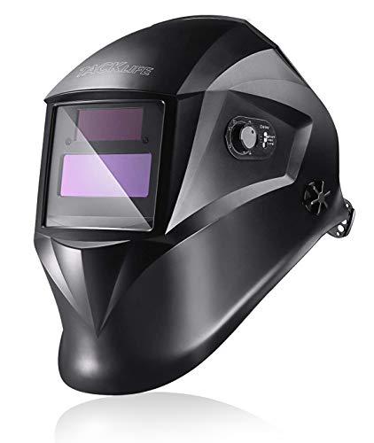 TACKLIFE Welding Helmet, True Color and Solar Power Auto Darkening Grinding...