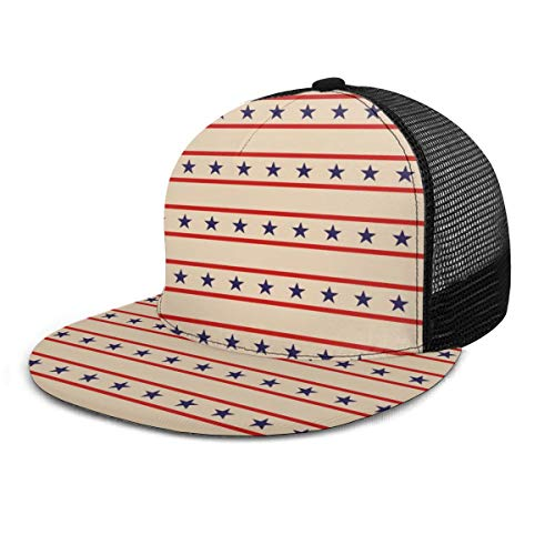 Inaayi Baseballkappe Primitive Star Vintage Country Stars Erwachsene Unisex Fashion Baseball Caps Mesh Trucker Hut Verstellbare Strapback schwarz