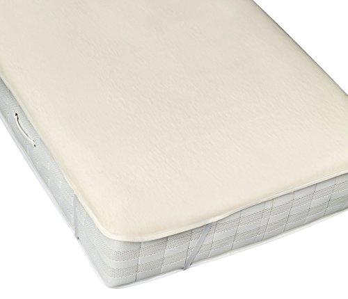 Moon-clean Molton Matratzenauflage Matratzenschutz mit Eckgummis 95° waschbar, Made in Germany-180x200