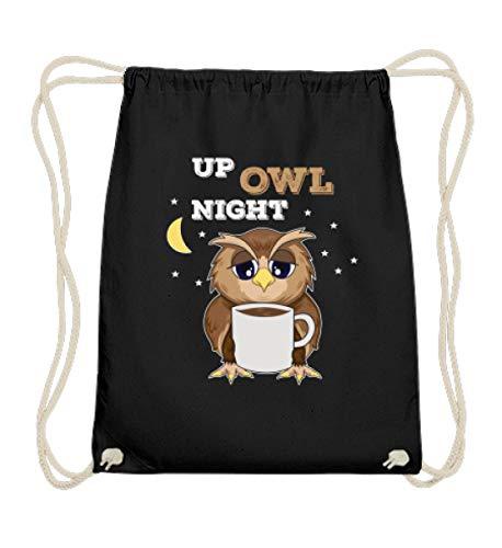 double critical Lustiges süße Eule Kaffee Owl Coffee Addict Gamer Nerd Geek Zocker Spieler Geschenk - Baumwoll Gymsac