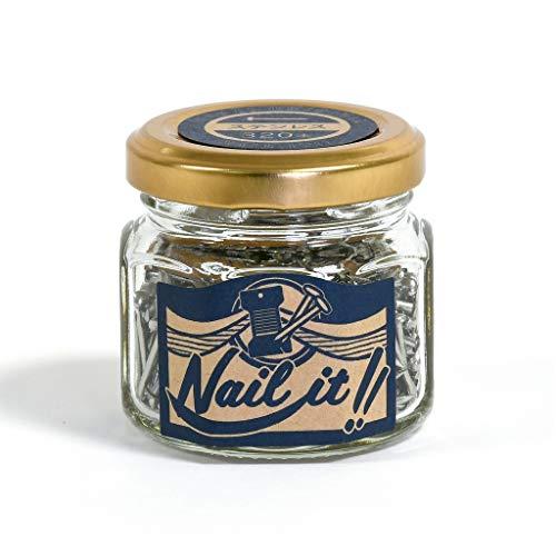 若井産業(Wakaisangyou) Nail it!!(ネイルイット)ストリングアート 釘 瓶入 ステンレス 釘のサイズ長さ:19mm 太さ:#17(約Φ1.47mm) 320本 NB70004