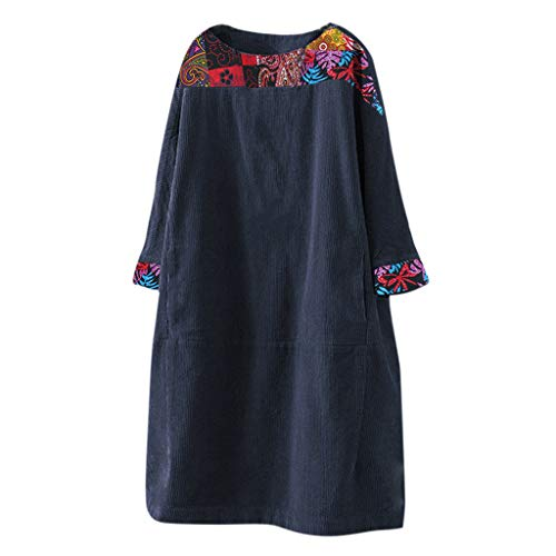 ELECTRI Robe Oversize Femme Pull Col Benitier Manche Longue Automne Hiver Sweat Robe Unie Grande Taille Casual Sweatshirt Long Tunique Jumper Top