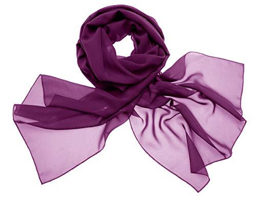 Dresstells Dresstells Chiffon Schal Stola für Abendkleider in Verschiedenen Farben Grape 190cmX70cm/ Medium