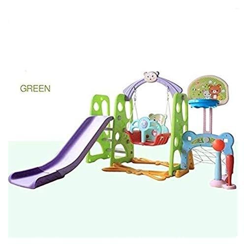 RVTYR Los niños de Diapositivas Interior del bebé Multifuncional de Diapositivas oscilación combinación con Kinder Juguetes del Patio tobogan Infantil (Color : Green)