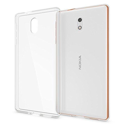 NALIA Handyhülle kompatibel mit Nokia 3, Ultra-Slim TPU Silikon Case Cover Crystal Clear Schutzhülle Dünn Durchsichtig, Etui Hülle Handy-Tasche Backcover Transparent, Smartphone Schutz Bumper