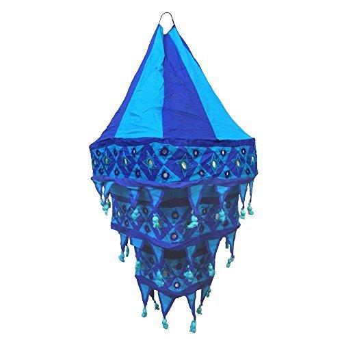 Paralume A Lanterna In Tessuto 70 Cm Artigianato Indiano Accessori Decorazione Casa