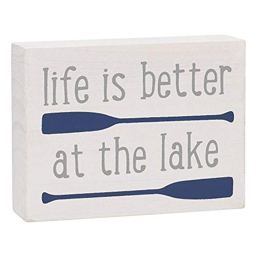 Collins 'Life is Better at The Lake' - Mini letrero de madera
