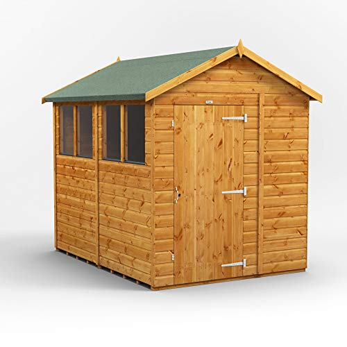 POWER | 8x6 Apex Wooden Garden Shed | Size 8 x 6 | Super fast delivery or choose your own delivery date on 6x8 sheds