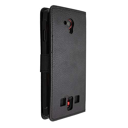 caseroxx Handy Hülle Tasche kompatibel mit Crosscall Trekker-X3 Bookstyle-Hülle Wallet Hülle in schwarz