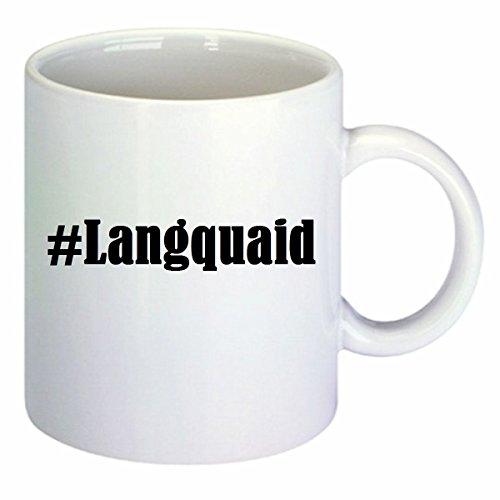 Kaffeetasse #Langquaid Hashtag Raute Keramik Höhe 9,5cm ? 8cm in Weiß