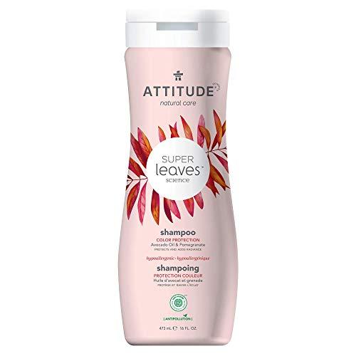 ATTITUDE Natural Shampoo for Color-Treated Hair, Avocado Oil & Pomegranate, 16 fl oz (Pack of 1) (11094)