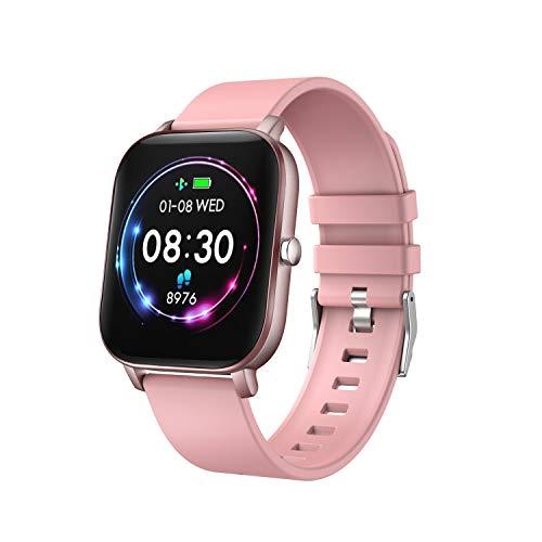 YoYoFit Smartwatch, Pulsuhr Fitness Trackers Wasserdicht Fitness Armband mit Blutdruckmessung, Schlafmonitor Kalorienzähler Armband Fitness Sportuhr mit Schrittzähler und Pulsmesser für Damen Herren