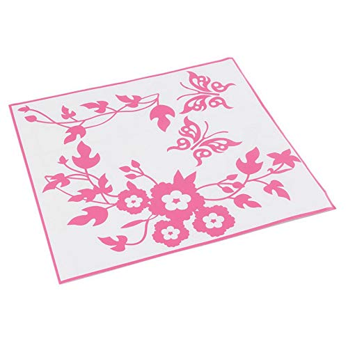 Libety Mariposa Flor Ba?o Inodoro Portátil Calcomanías de Pared Etiqueta Decorativa Muebles para el hogar Decoración Etiqueta de Lavadora-Rosa