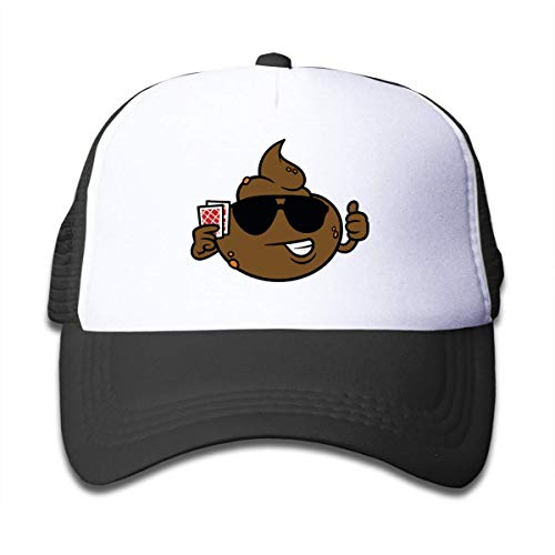surce poep spelen kaart jongen en meisjes mesh honkbal pet kinderen truckers hoeden zwart