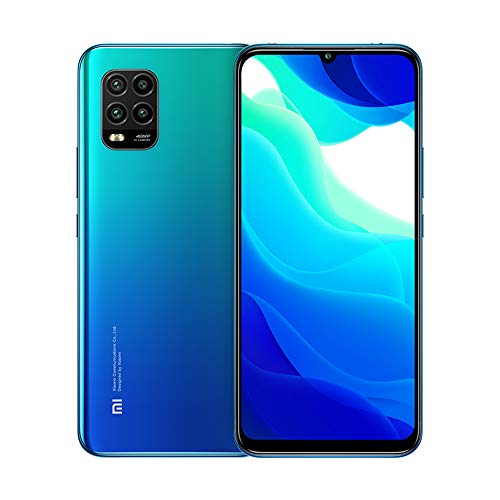 Xiaomi Mi 10 Lite 5G 6GB 128GB Smartphone Qualcomm Snapdragon 765G Octa Core 48MP AI Quad Cameras 6.57 '' AMOLED TrueColor Display Teléfono móvil NFC (Azul)