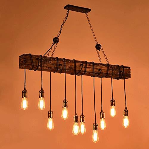 Z-ZH Massivholz Kronleuchter Kreativ Stil Wohnzimmer Deko Pendelleuchte 10 Lampe Industriewind Massivholz Kreativ Nostalgie Kronleuchter