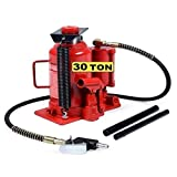 Cric/Sollevatore/Martinetto a bottiglia doppia funzione idraulico e pneumatico 30T/30000Kg