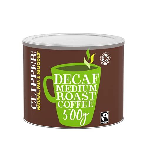 Clipper Teas Organic Medium Roast Decaf Arabica Coffee 500g