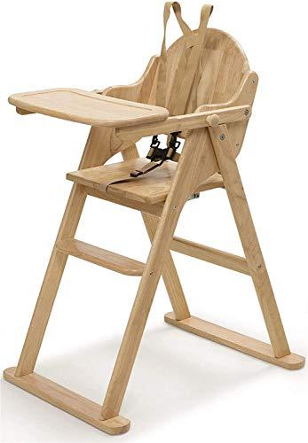 Safetots Hochstuhl aus Holz, zusammenklappbar, naturfarben