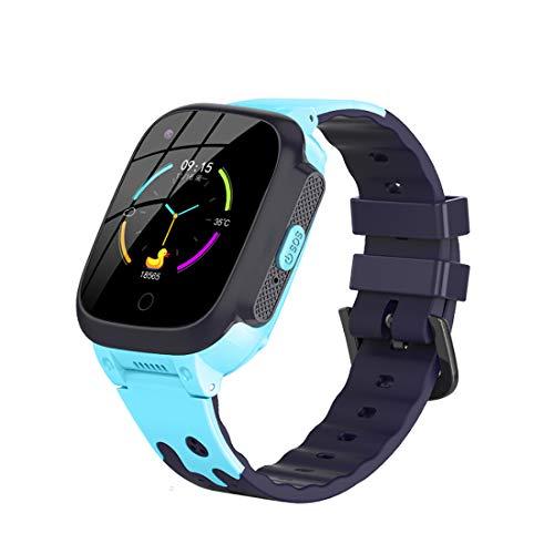 XIEJ Kinder Smart Watch für iOS Android IP67 wasserdichte GPS Tracker Smartwatches Kinderhandgelenk Digitaluhr Telefon SOS Wecker Kamera Telefon Uhr für Kinder Alter 3-12 Jungen Mädchen