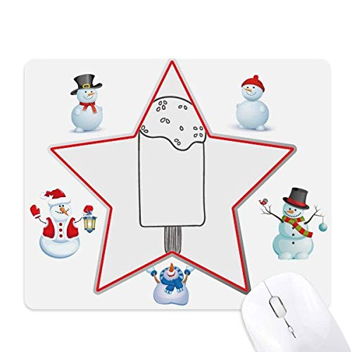 Zwart overzicht sesam ijs ijslolly kerst sneeuwpop familie ster muismat