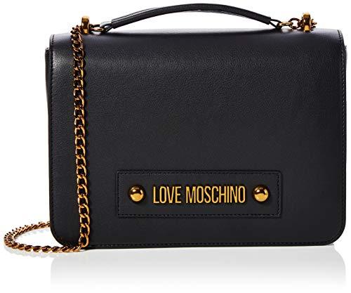 Love Moschino Jc4025pp1a, Borsa a Tracolla Donna, Nero (Nero), 8x19x26 cm (W x H x L)
