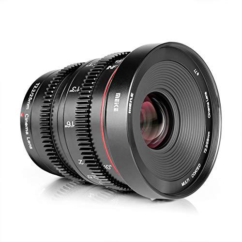 MEKE 25mm T2.2 Manual Focus Mini Prime Low Distortion Imperial Cinema Lens for Micro Four Thirds MFT M43 Mount Camera Like EM1 M5 GF5 GF6 GF7 GH3 GH4 and BMPCC