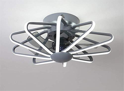Deckenventilator mit LED-Beleuchtung , Moderne Deckenleuchte , Fernbedienbare dimmbare Deckenleuchte 3-fach Wind , Leiser Deckenventilator ,Schlafzimmerdekoration Innenventilatorbeleuchtung (grau)