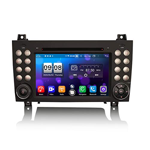 ERISIN Autoradio Android 10.0 da 7 pollici per Mercedes-Benz Classe SLK R171 SLK200 Supporto GPS Sat Nav Carplay Android Auto DSP Bluetooth Wifi 4G DAB + TPMS DVB-T / T2 8-Core 4GB RAM + 64GB ROM