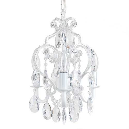 Tadpoles CCHAPL010 3 Bulb Mini Chandelier, White Diamond