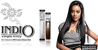 Hollywood Indio Virgin Remy Human Hair Weaving Yaki 14 (1B)