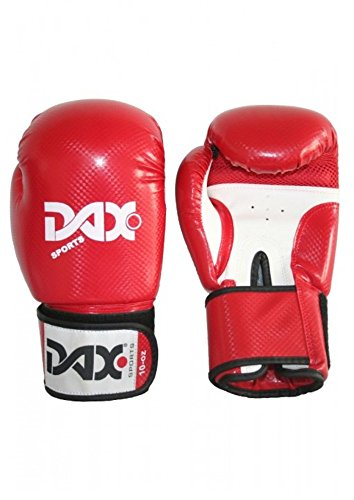 DAX Boxhandschuhe Onyx TT, Rot-Weiß 12 oz