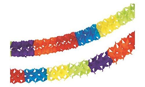 Girlande aus Papier, d= 11,5 cm, 4m lang, Partygirlande Geburtstag, Kinderfest, Fasching, Deko Karneval