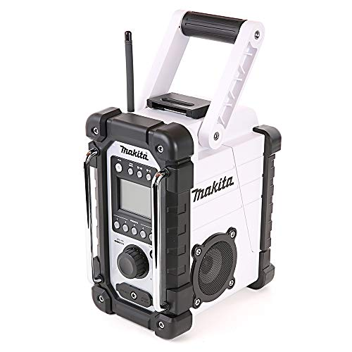 Makita DMR107W CXT LXT Job Site Radio Complete with 2 x AA Batteries - White Large
