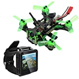 BGNing Mantis 85 Mini Drone with Boscam FPV Watch, Micro FPV Racing Drone Quadcopter with Frsky/Flysky Receiver F4 Flight Controller TFT Monitor BNF Version (Flysky Receiver)