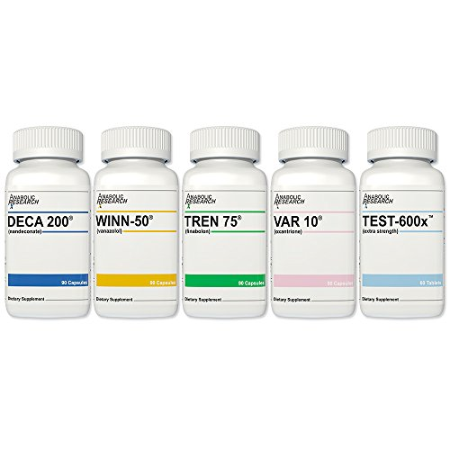 Super Combo Stack (Testosterone Enhancement System) - 1 of Each - Test-600X™, Winn-50®, Tren 75®, VAR 10® & Deca 200® - from Anabolic Research™